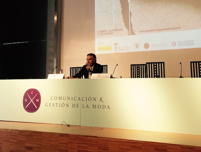 Juan Gratacos, executive director of Gratacós, at IX. Fashion and Communication Seminar (Madrid)