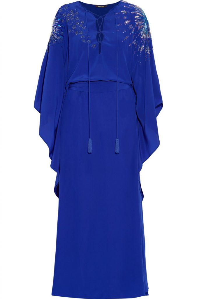 Vestido azul Roberto Cavalli - Gratacos