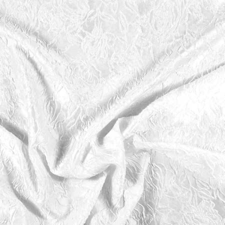 White floral jacquard