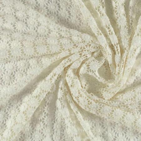 Ivory daisy guipur