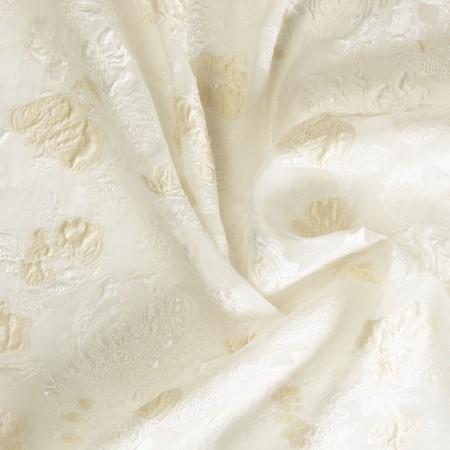 Jacquard flor lamÉ marfil