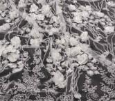 White bordado flor 3d