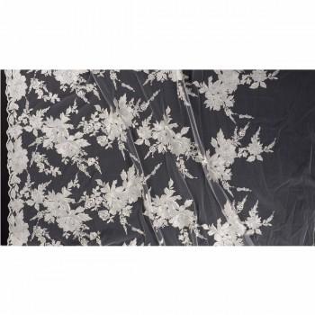 Ivory bordado fantasia flor