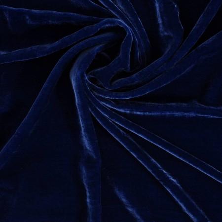 Blue terciopelo de viscosa/seda