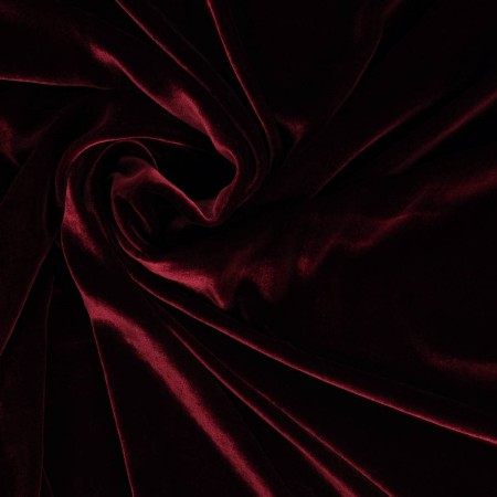 Bordeaux terciopelo de viscosa/seda