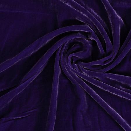 Violet terciopelo de viscosa/seda