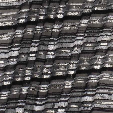 Grey paillette stripes