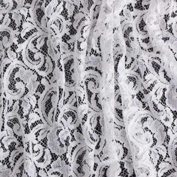 White rebrode lace