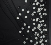 Fantasia flores 3d blanco negro