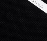 Velvet with stones negro