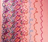 Bordado cenefa multicolor fuxia