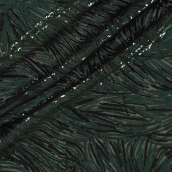 Green bottle palm sequins