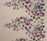 Floral embroidery teja