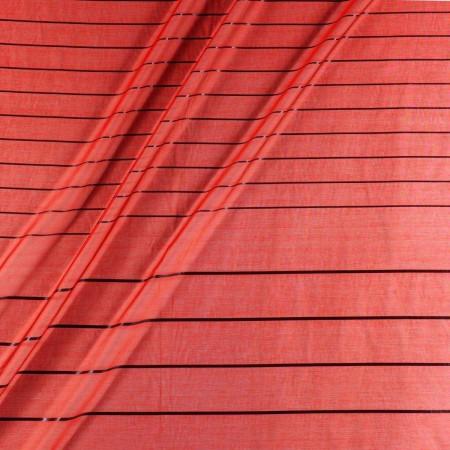 Jacquard panneau de rayas lamÉ rojo