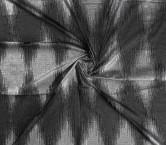 Silver jacquard organza rombo