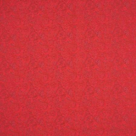Jacquard relieve arabesco rojo