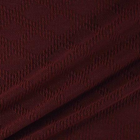 Jacquard de lana con diseÑo de rombos granate