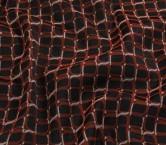 Jacquard geometrico elastico rojo