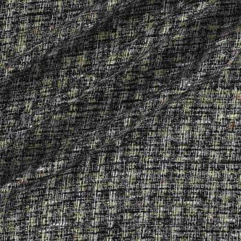 Tweed con hilatura fantasia negro