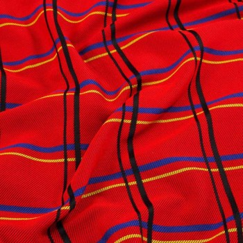 Red jacquard cuadro con diagon