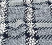 Jacquard abrigo de cuadros gris