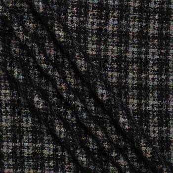Jacquard lana y lamÉ multicolor negro