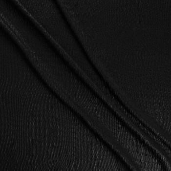 Jacquard elast. geomÉtrico negro