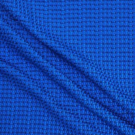Jacquard geomÉtrico efecto 3d azul