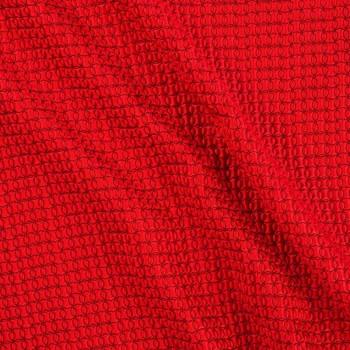 Jacquard geomÉtrico efecto 3d rojo