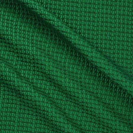 Jacquard geomÉtrico efecto 3d verde