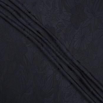 Jacquard cloquÉ floral negro