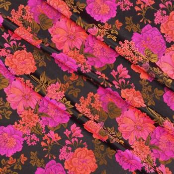 Brocado jacquard rosa fuxia