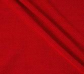 Jacquard grueso de lana rojo