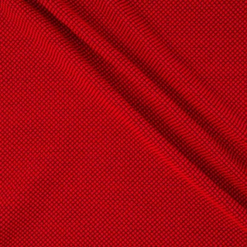 Red jacquard grueso de lana