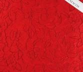 Jacquard floral con perfiles y lamÉ rojo