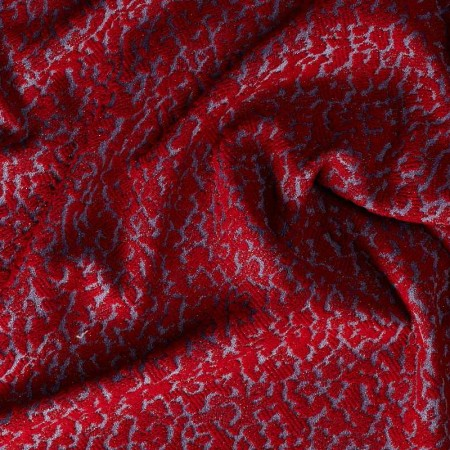 Red jeans jacquard
