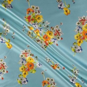 Turquoise estampado flor 515