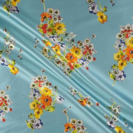 Estampado flor 515 turquesa