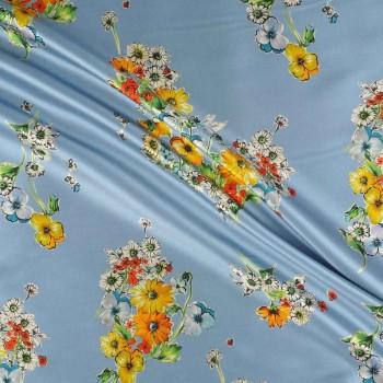 Light blue estampado flor 515