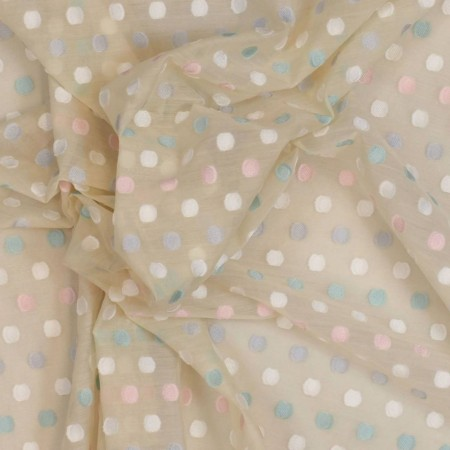 Nude dots cotton voile