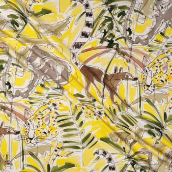Mikado estampado jungla amarillo