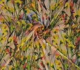 Estampado muselina flor amarillo