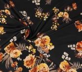 Estampado flores amarillo marron