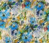 Mikado estampado flor azul