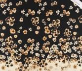Mikado estampado flores pano 90cm