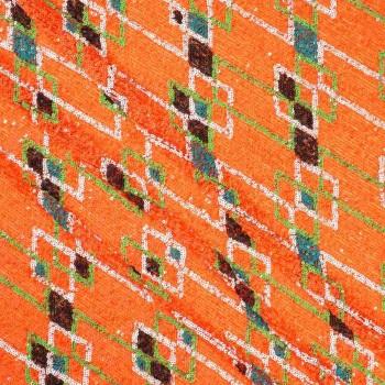 Multicolor design sequins naranja acido