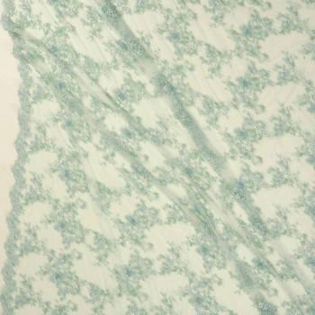 Fantasia bordada verde menta
