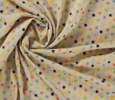 Mini flor bordado beige