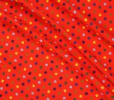 Mini flor bordado rojo
