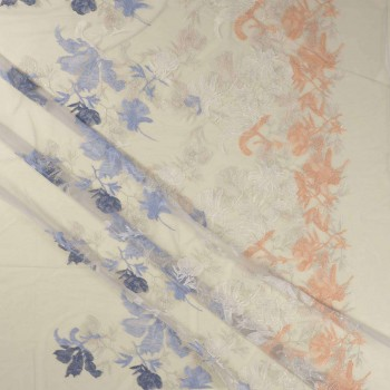 Botanic embrodery azul claro